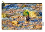 Mallard At The River - Impressions Carry-all Pouch