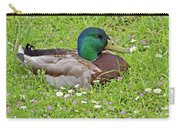 Mallard Drake In The Grass Carry-all Pouch