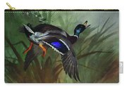 Mallard Duck In Flight By Thorburn Carry-all Pouch