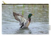 Mallard Duck Landing In Pond Carry-all Pouch