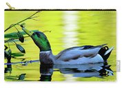 Mallard Eating Seed Pod 2 Carry-all Pouch
