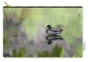Mallard In Mountain Water Carry-all Pouch