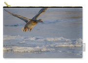 Mallard Landing Over Ice Carry-all Pouch