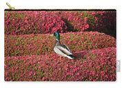 Mallard On A Floral Carpet Carry-all Pouch