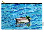 Mallard On Water Carry-all Pouch