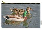 Mallard Pair Swimming, Waterfowl, Ducks Carry-all Pouch