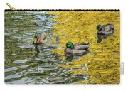 Mallards On Golden Pond 3 Carry-all Pouch