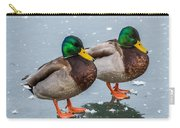 Mallards On Ice Carry-all Pouch