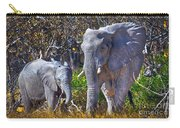 Mama And Baby Elephant Carry-all Pouch