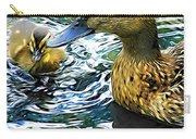 Mama And Chick Carry-all Pouch