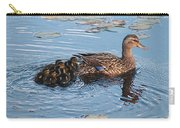 Mama Mallard And Her Ducklings Carry-all Pouch