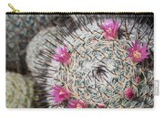 Mammillaria Cactus With Small Flowers Carry-all Pouch