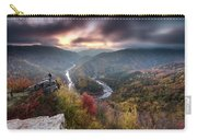 Man Above A River Meander Carry-all Pouch