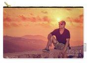 Man Enjoying Sunset Carry-all Pouch
