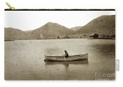 Man In A Row Boat Named Lizzie On Palmer Lake On The Colorado Di Carry-all Pouch