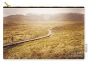Man On Expedition Along Cradle Mountain Boardwalk Carry-all Pouch