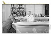 Man Ordering Another Drink, C. 1940s Carry-all Pouch
