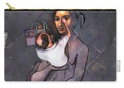 Man Painting Woman Carry-all Pouch