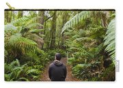 Man Relaxing In Strahan Rainforest Retreat Carry-all Pouch