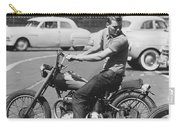 Man Riding A Motorcycle Carry-all Pouch