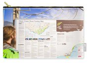 Man Sightseeing The Great Ocean Road Carry-all Pouch