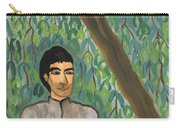 Man Sitting Under Willow Tree Carry-all Pouch