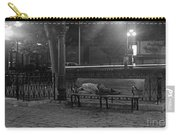 Man Sleeping On Bench Carry-all Pouch