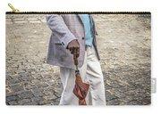 Man Smoking A Cigar Carry-all Pouch