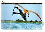 Man Wakeboarding Carry-all Pouch by Fernando Cruz
