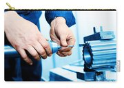 Man Working On Drilling And Boring Machine Carry-all Pouch