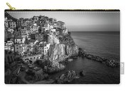 Manarola Dusk Cinque Terre Italy Bw Carry-all Pouch