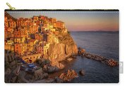 Manarola Dusk Cinque Terre Italy Painterly Carry-all Pouch
