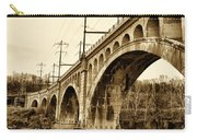 Manayunk Bridge Across The Schuylkill River In Sepia Carry-all Pouch
