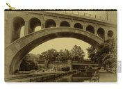 Manayunk Canal In Sepia Carry-all Pouch