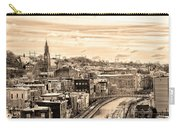 Manayunk In March - Canal View In Sepia Carry-all Pouch