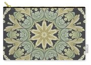 Mandala Leaves In Pale Blue, Green And Ochra Carry-all Pouch