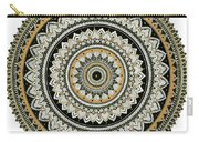 Black And Gold Mandala Carry-all Pouch