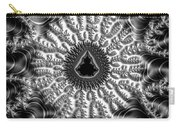 Mandelbrot Fractal Black And White Carry-all Pouch
