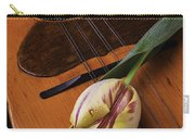 Mandolin And Tulip Carry-all Pouch