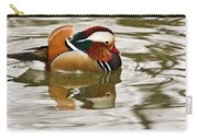 Mandrin Duck Going For A Swim Carry-all Pouch