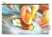 Mango And Cream Abstract Carry-all Pouch