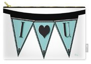 Pennant Deco Blues Streamer Sign I Love You Carry-all Pouch
