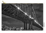Manhattan Bridge Frames The Brooklyn Bridge Carry-all Pouch by Susan Candelario