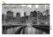 Manhattan Skyline - Graphic Art - White Carry-all Pouch