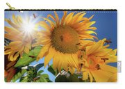 Many Bees Flying Around Sunflowers Carry-all Pouch