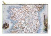Map: Ireland, 1851 Carry-all Pouch