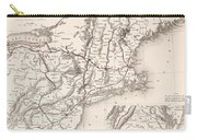 Map: Northeast U.s.a Carry-all Pouch