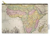 Map Of Africa Carry-all Pouch by Pieter Schenk