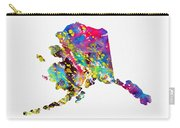 Map Of Alaska-colorful Carry-all Pouch
