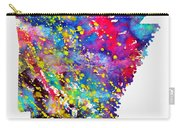 Map Of Arkansas-colorful Carry-all Pouch
